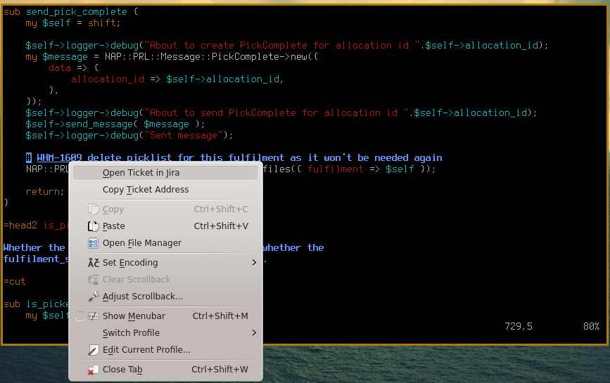 The Terminal with Jira Integration (A KDE Konsole Hack) – Phillip